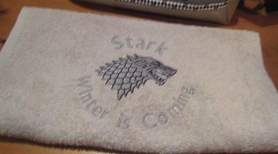 serviette stark games of thrones