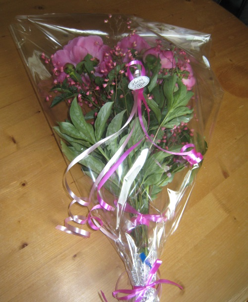 bouquet pivoines
